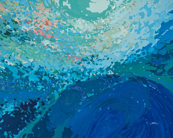 "Ocean Symphony, 48 x 60 x 1.5"""