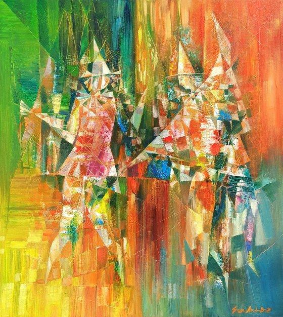 Clowns (50x60cm oil/canvas)
