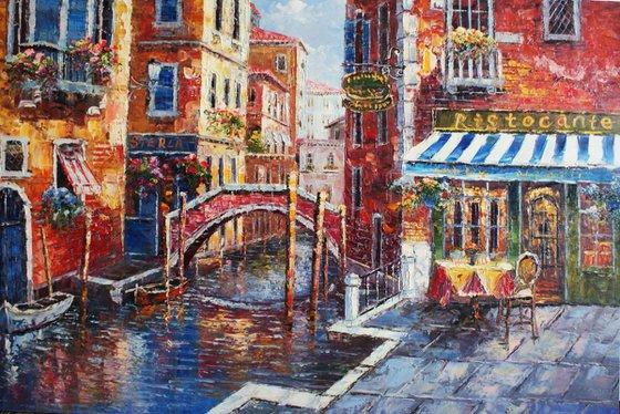 """Venice 2"". Canvas, oil. Size 90x60 cm"
