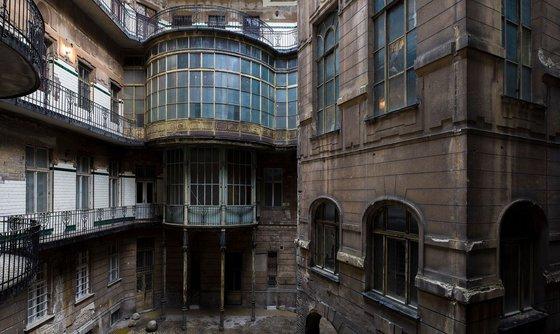 Art nouveau courtyard