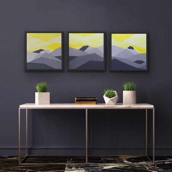 Yellow Sky Triptych