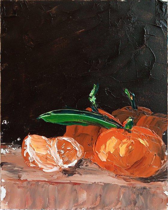 Tangerines still life