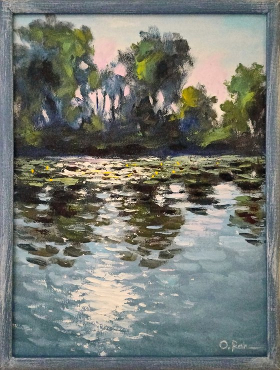 Sun in the river