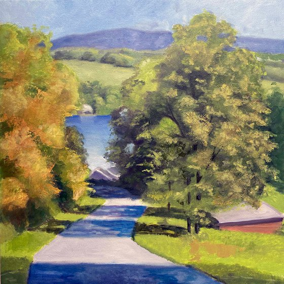 """Hedges Lake 16x16"""" in 41x41 cm"""