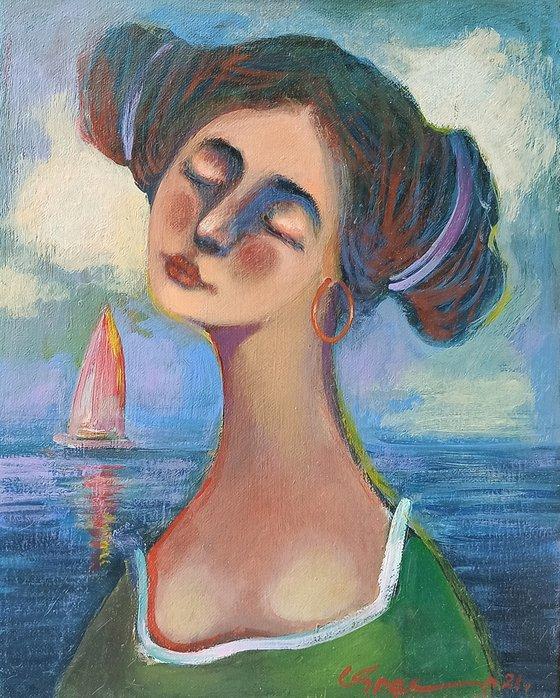Girl portrait-3 (24x30cm ,oil/canvas)