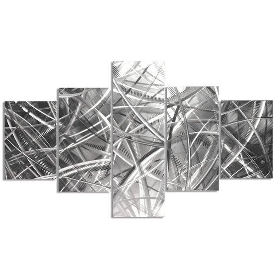 Columnar Fibers by Helena Martin - Original Abstract Metal Art on Metal