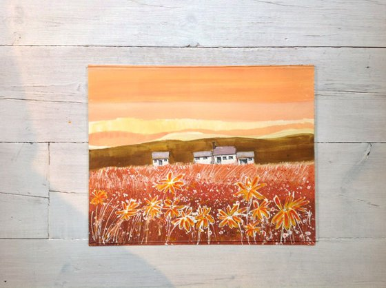 Cottages and flowers