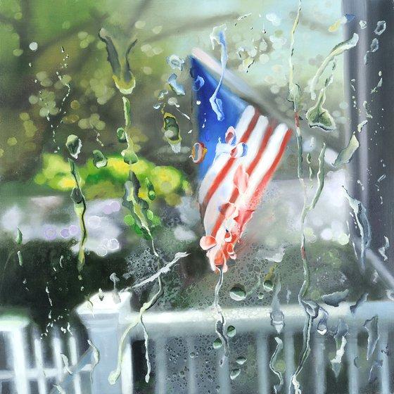 July Rain 18x18 in 45x45 cm