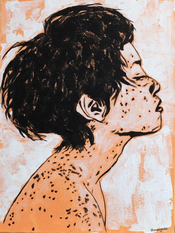 Sunny Girl (30x40 cm) acrylic painting on canvas