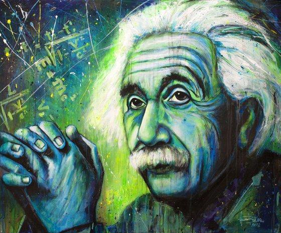 Albert Einstein - Portrait GLOW IN THE DARK UV