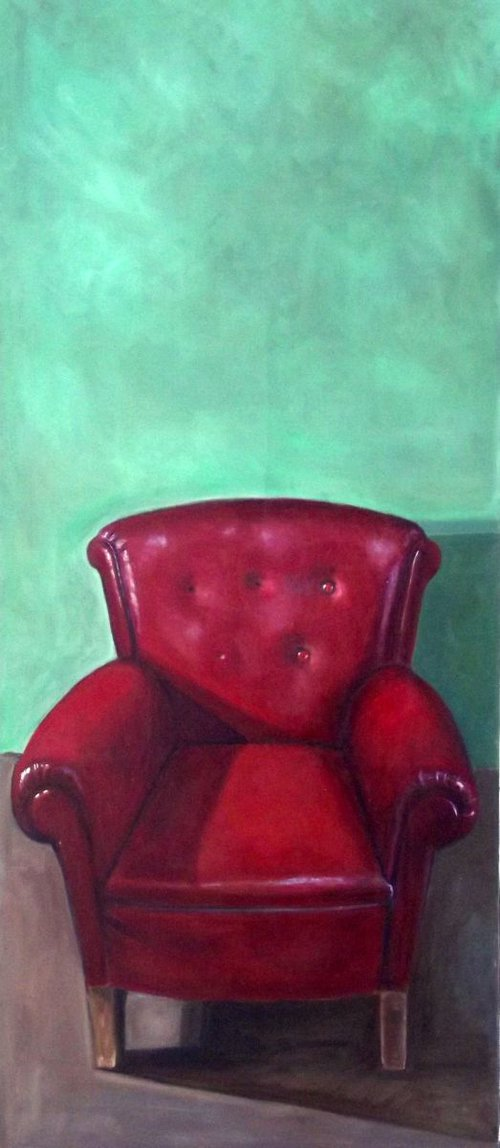 Red chair.