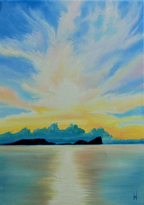 Sunset at Worm's Head, Rhossili