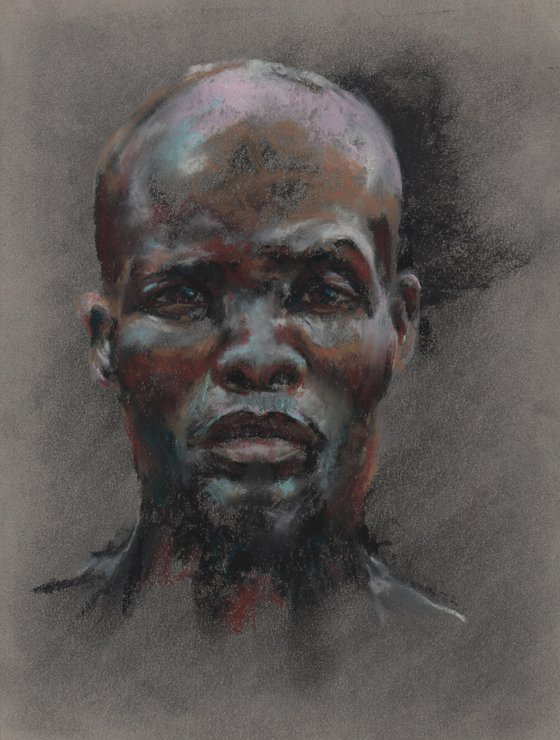 The Gaze - Original Pastel Portrait