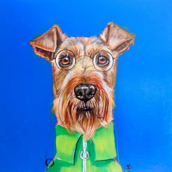 Airedale painting called 'Otis'