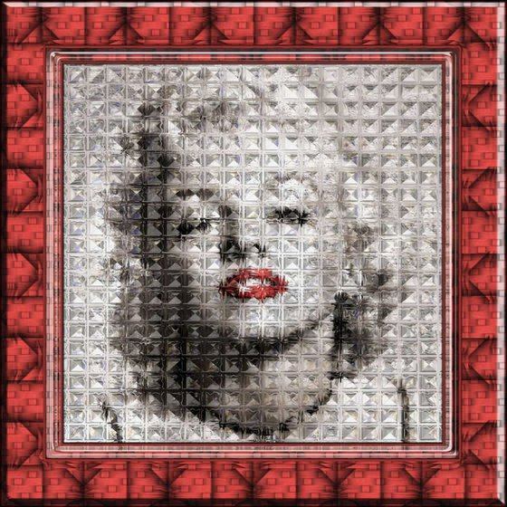 Marilyn, Refraction #1 on Acrylic