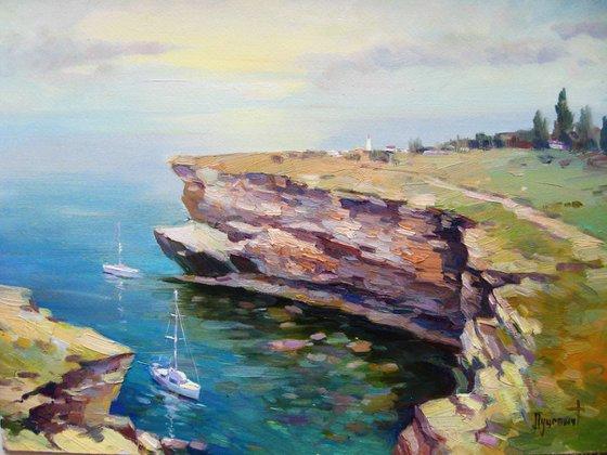 Cape Tarkhankut. Crimea .