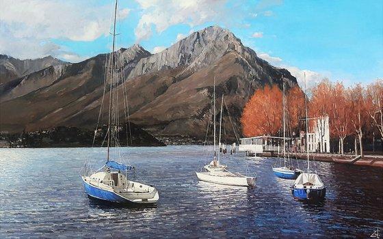 осень на озере Комо.