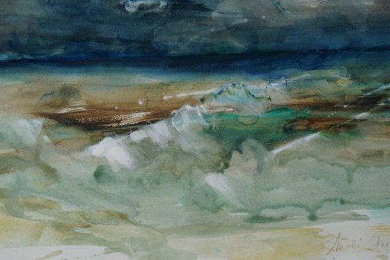 Rough sea at Hope Cove