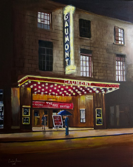 The Gaumont Cinema Aberdeen oil painting