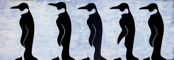 Five penguins