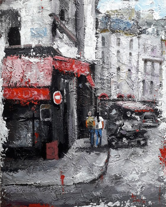 France Cityscape Wall Art Cafe In Paris