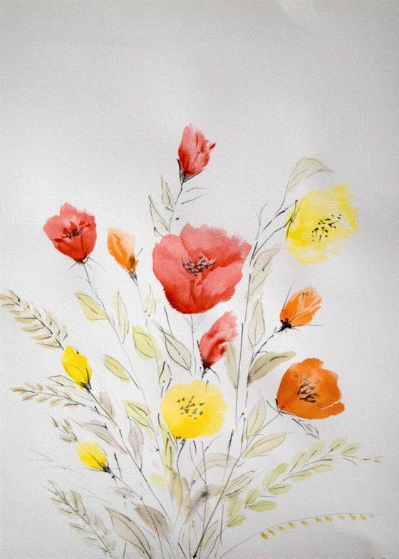 """Watercolour Flower's composition #3"" 41 х 29.5 (A3 size)"