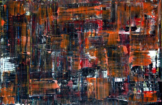 xxl....CB Abstract art orange