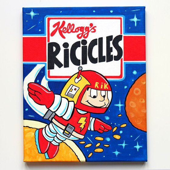 Ricicles Breakfast Cereal Box - Pop Art Painting on Canvas