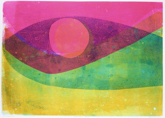 Sinking Sun - Unmounted Signed Monotype