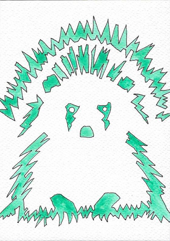 ATOMIC HEDGEHOG - watercolour