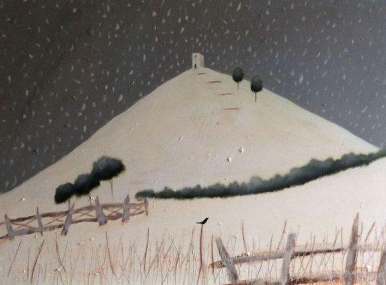 """Falling Down On Glastonbury Tor"" 102x77x2cm"