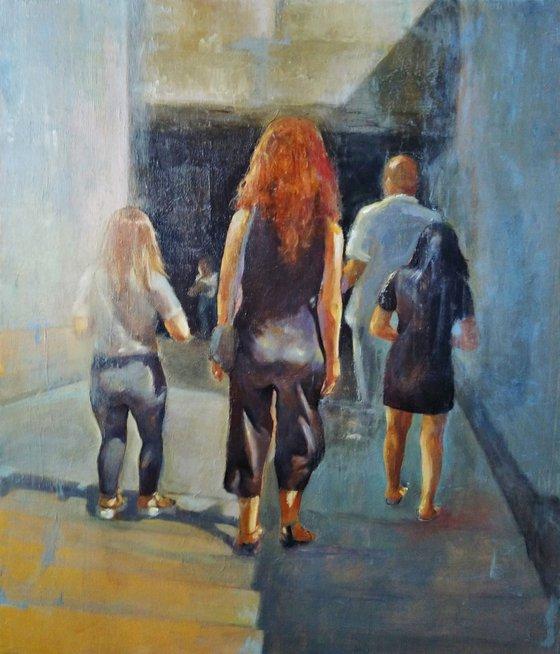 Go down, go up 70x60cm ,oil/canvas, impressionistic figure