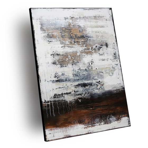 CONFIDENCE - ABSTRACT ACRYLIC PAINTING TEXTURED * PASTEL COLORS * READY TO HANG