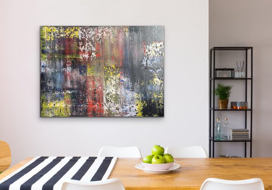 Chaos - Abstract Painting - Rectangular - Colours - Canvas