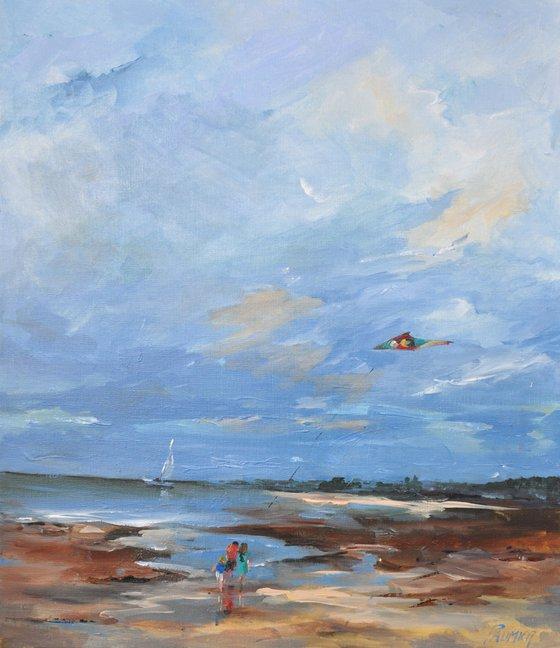 The kite, on beach