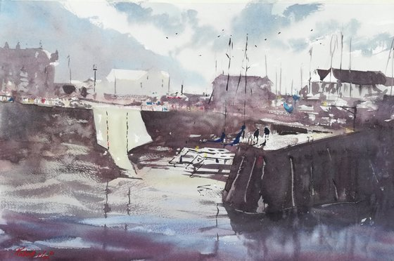 Aberaeron Harbour, West Wales, UK