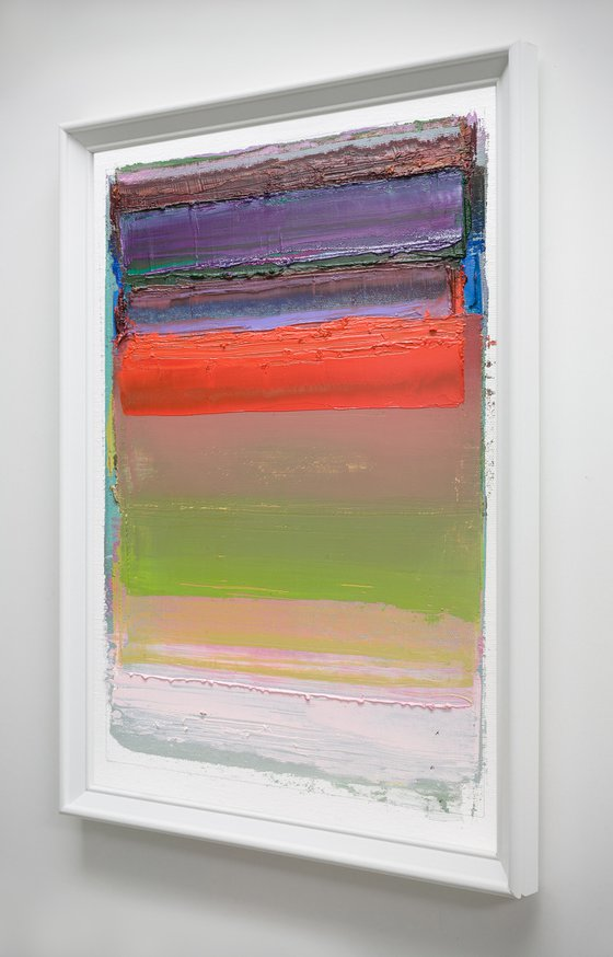 Modern Abstract Oil Painting, NO PP #93, 30x40cm, Framed and Ready to Hang