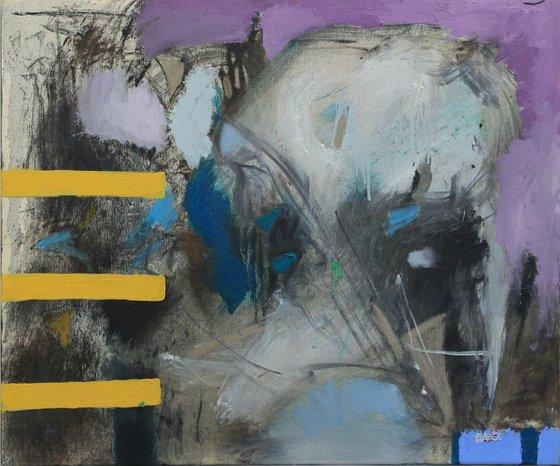 Three Yellow Lines (60x50 cm)