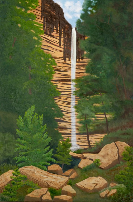 Hemmed In Hollow Waterfall