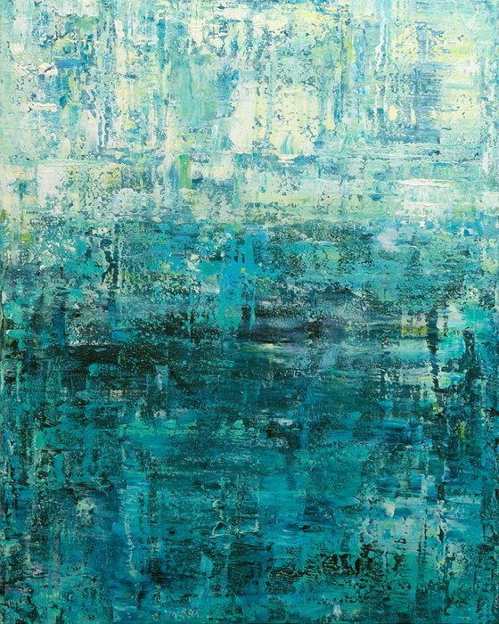 """Abstract Composition III, 80x100 cm - 31""""x39"""", Large original abstract painting, Ready to hang"""