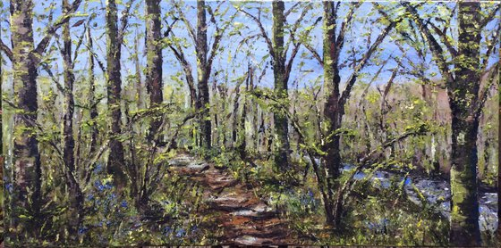 Large Spring Woods (large ready to hang oil painting)