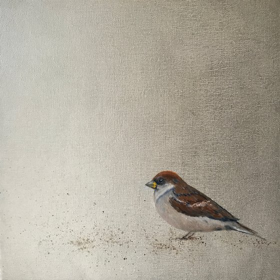 Little Sparrow ~ on silver