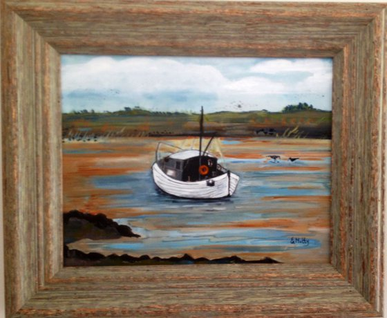The small fishing boat