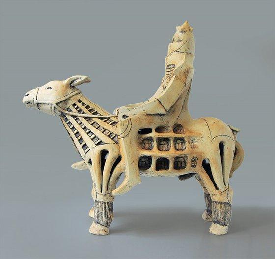 Ceramic | Sculpture | Barcelona donkey