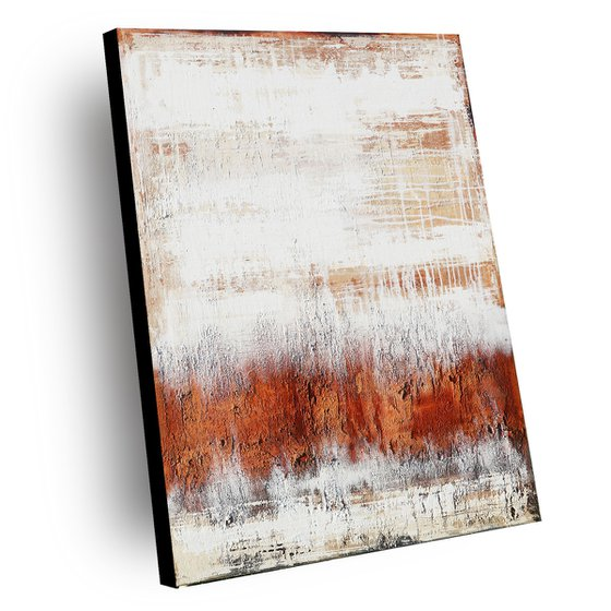 SAHARA - 110 X 80 CMS - ABSTRACT PAINTING TEXTURED * PASTEL COLORS