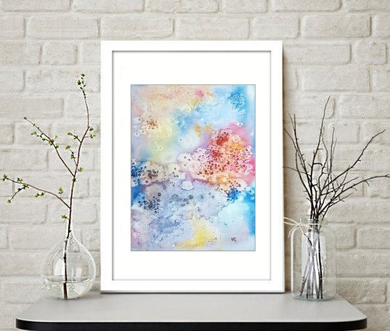 """""""Delicate"""" Abstract Watercolor Painting"""