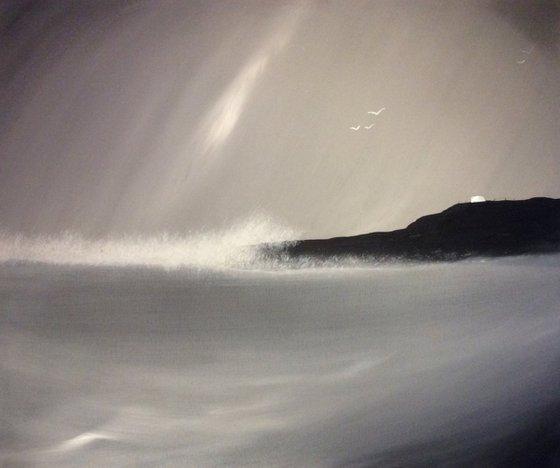 """Winter Waves"" 120x100x4cm"