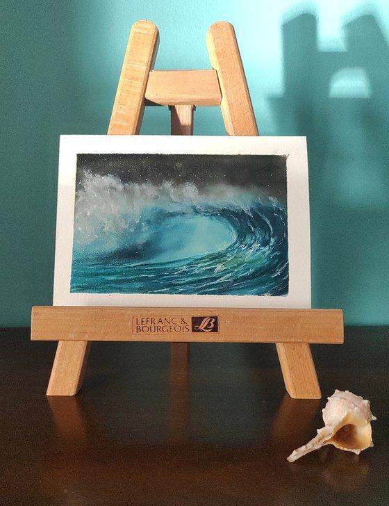 seascape wave on paper #004