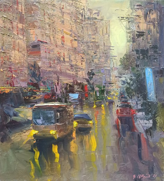 Street-2 (50x60cm, oil painting, ready to hang)