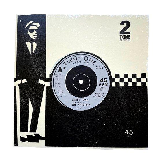 TWO TONE - limited-edition, vintage vinyl sleeve print